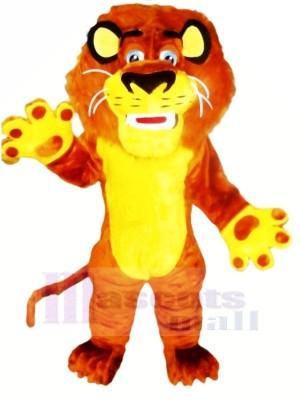 Des sports Jaune Lion Mascotte Les costumes Dessin animé