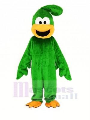 vert Peluche Roadrunner Oiseau Mascotte Costume Animal