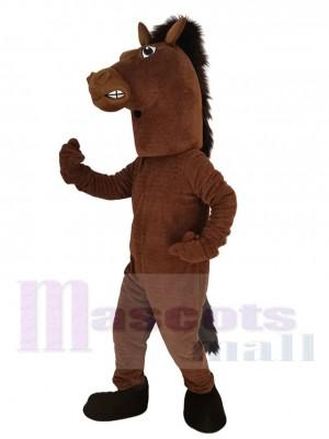 Étalon Cheval costume de mascotte