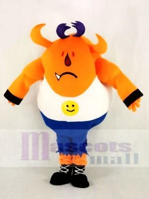 Orange Monstre avec Longue Oreilles Mascotte Costume École