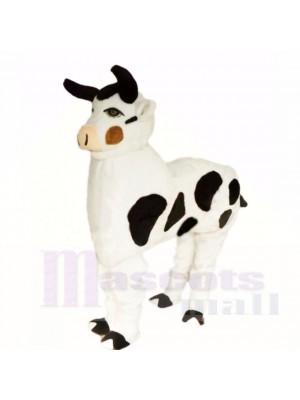 Dessin animé mignon de nouveaux costumes de mascotte de vache à deux personnes