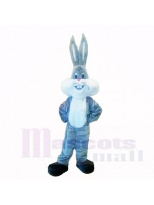 Gris Poids léger lapin avec Longue Oreille Costumes De Mascotte Dessin animé