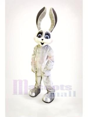 Souriant lapin avec Longue Oreilles Mascotte Les costumes Dessin animé