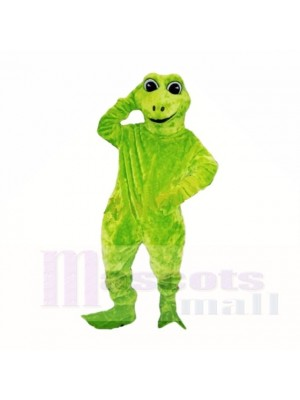 vert Amical Poids léger La grenouille Costumes De Mascotte Dessin animé