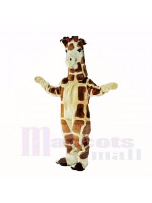 Mascotte girafe de qualité supérieure pour adultes