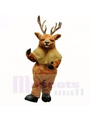 Mascotte brun moose de qualité supérieure costumes adultes