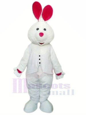 blanc lapin avec Longue Oreille Mascot Costumes Animal