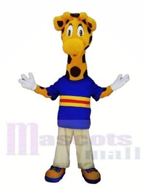 Mignonne Girafe avec Gros Les yeux Mascotte Les costumes Animal