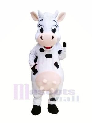 Belle Vache Mascotte Les costumes Dessin animé