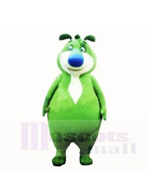 vert Ours Costumes De Mascotte Dessin animé