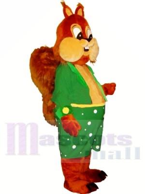 Heureux écureuil léger Costume de mascotte Livraison gratuite