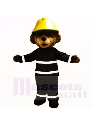 Souriant Feu sécurité Ours Costumes De Mascotte Dessin animé