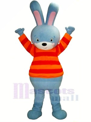 Bleu lapin Mascotte Les costumes Dessin animé