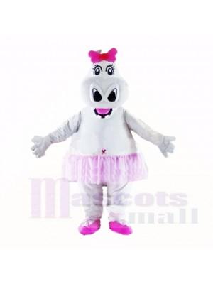 Fille Hippopotame avec Rose Arc Costumes De Mascotte Dessin animé