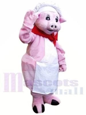 Chef Rose Porc Mascotte Les costumes