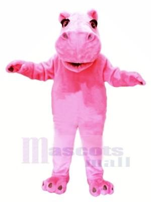 Rose Poids léger Hippopotame Mascotte Les costumes Pas cher
