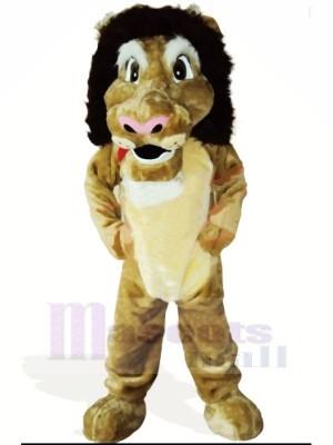 Charmant Poids léger Lion Mascotte Costume Dessin animé