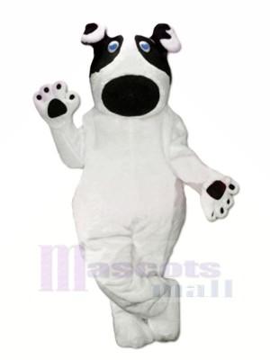 Charmant blanc Chien Mascotte Costume Dessin animé