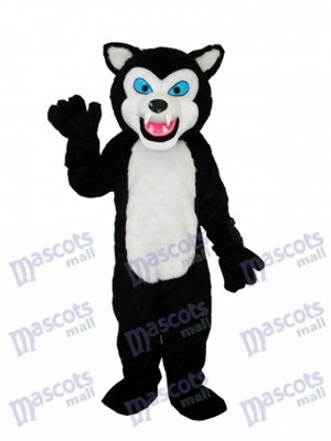 Loup noir Adulte Mascotte Costume Animal