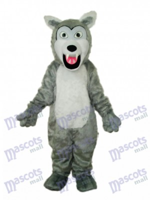 Petit Gris aux cheveux longs Loup Mascotte Costume adulte Animal