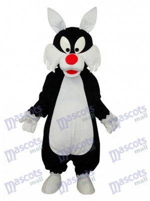 blanc Bouche Loup Mascotte Costume adulte Animal