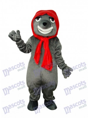 Gris Mal Loup Adulte Mascotte Costume Animal