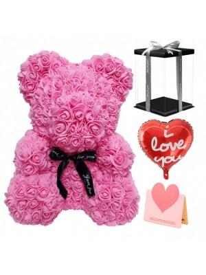 Rose Ours rose Ours fleur pour Fête des mères, La Saint-Valentin, Anniversaire, Mariages et anniversaires