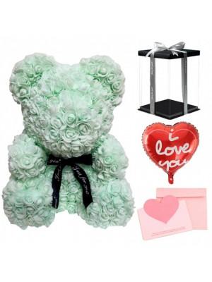 Vert clair Ours rose Ours fleur pour Fête des mères, La Saint-Valentin, Anniversaire, Mariages et anniversaires