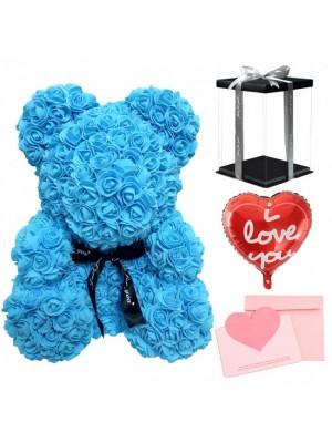 Bleu Ours rose Ours fleurpour Fête des mères, La Saint-Valentin, Anniversaire, Mariages et anniversaires