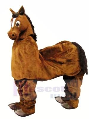 Mignonne marron Nouveau 2 La personne Cheval Mascotte Costume