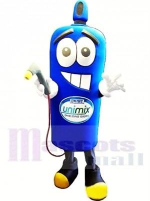 Bleu Bouteille de gaz Costume de mascotte