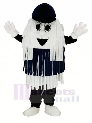 Bleu & blanc Voiture Lavage Nettoyage Brosse Mascotte Costume