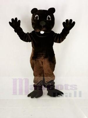 Marrant marron Barney Castor Mascotte Costume Dessin animé