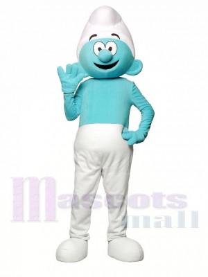 Nain bleu et blanc Costume de mascotte