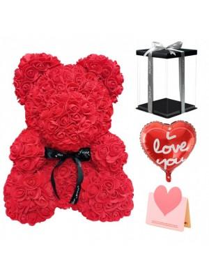 rouge Ours rose Ours fleur pour Fête des mères, La Saint-Valentin, Anniversaire, Mariages et anniversaires