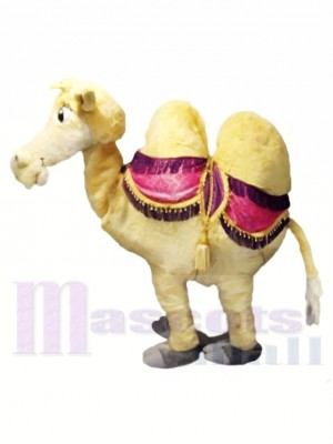 marron Deux La personne chameau Mascotte Les costumes