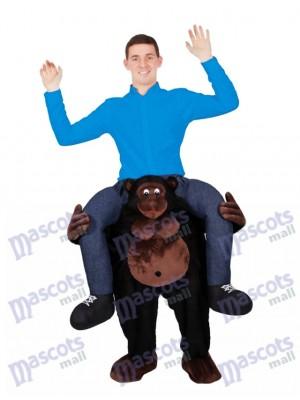 Monter sur le gorille d'épaule me transporter sur le costume de mascotte Piggy Back Ride Outfit