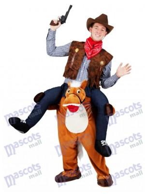 Wild Western Horse Carry Me Piggy Retour Mascotte Déguisement Farm Cowboy Costume