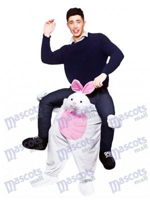 Carry Me Lapin de Pâques Piggy Back Mascotte Adultes Monter Sur Costume Déguisement Drôle