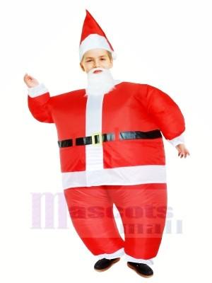 Père Noël Claus Gonflable Halloween Noël Mascotte Les costumes Dessin animé Pour Des gamins