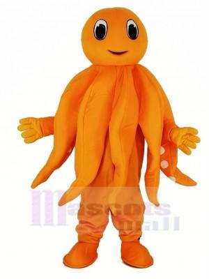 Orange Poulpe Peluche Adulte Mascotte Costume Dessin animé