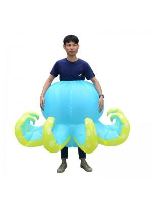 Bleu Poulpe Calamar Gonflable Costume Halloween Noël Costume pour Adulte