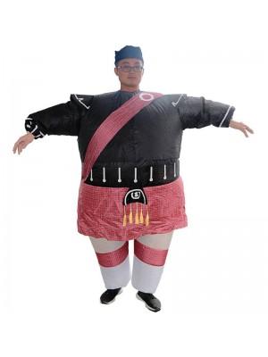 le Écossais Gonflable Costume Halloween Noël Costume pour Adulte