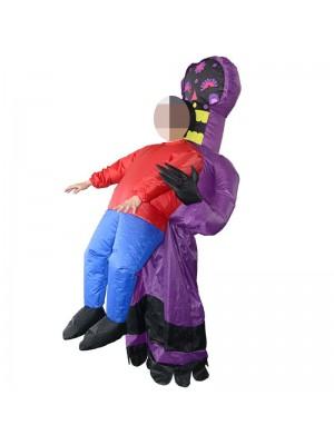 Violet Extraterrestre Monstre Fantôme Porter moi Gonflable Costume Halloween Noël Costume pour Adulte