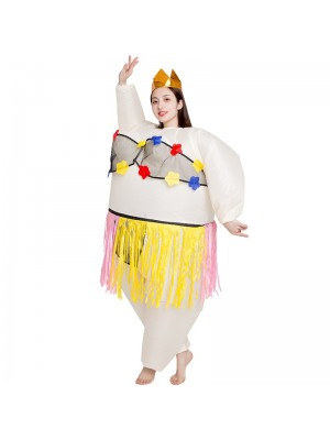 Ballerine Gonflable Costume Tiare couronne Halloween Noël Costume pour Adulte Jupe herbe