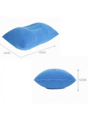 Air Gonflable Oreiller Extérieur Portable Pliant Double Face Flocage Coussin
