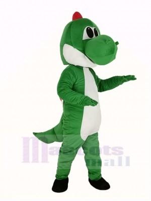 vert Dinosaure Yoshi de Super Mario Mascotte Costume Dessin animé