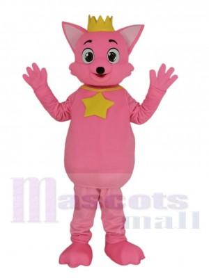 Rose Renard Pinkfong Mascotte Costume Dessin animé
