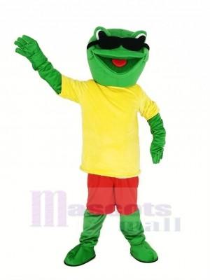 Cool Grenouille Mascotte Costume Animal