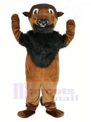 Sauvage marron Buffy Buffle Mascotte Costume Animal